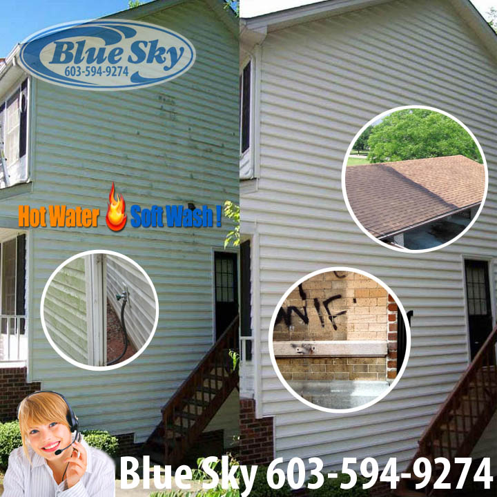 Blue Sky Pressure Washing service in New Hampshire 603-594-9274