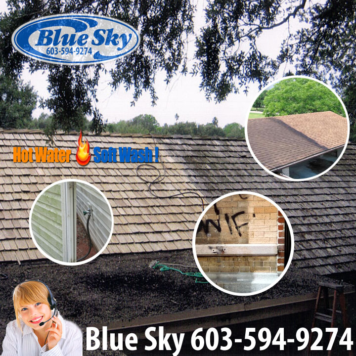 Pressure Washing my roof with Blue Sky & Ugly Shingles