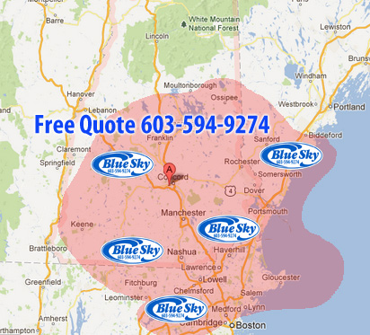 Pressure Washing Service areas New Hampshire - Mass & Maine
